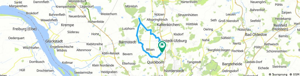 Ellerau - Alveslohe - Richtung Heidkate - Hemdingen - Ellerau