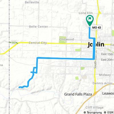 Long bike tour through Joplin