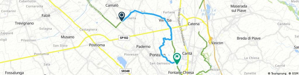 Short bike tour from Baruchella to Fontane