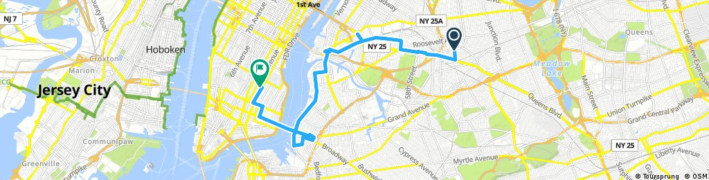 Jackson Heights Queens to Lower East Side Manhattan ...