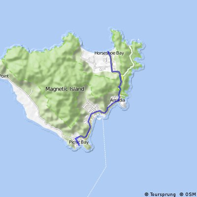 Cycling routes and bike maps in and around magnetic island bikemap map thumbnail gumiabroncs Gallery