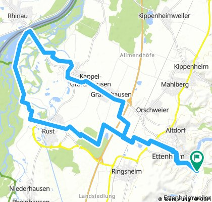 Ettenheim - Grafenhausen-Rheinfähre-Taubergiessen-Rust-Ettenheim