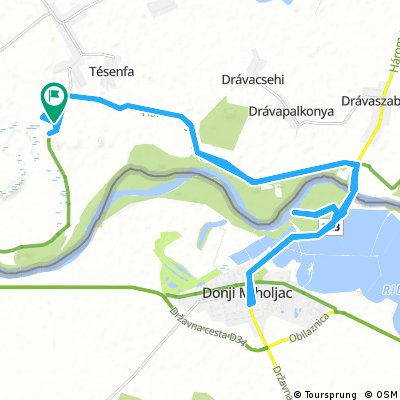 Long bike tour through Szaporca