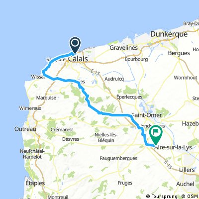 CVF02 - Calais-Rebeques - Via Francigena cycling route