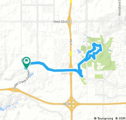 Lake Lenexa Trail Route