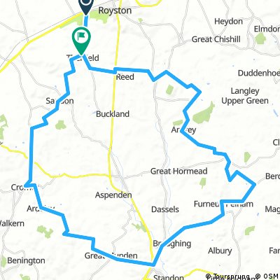 Royston to Puckeridge, circular route