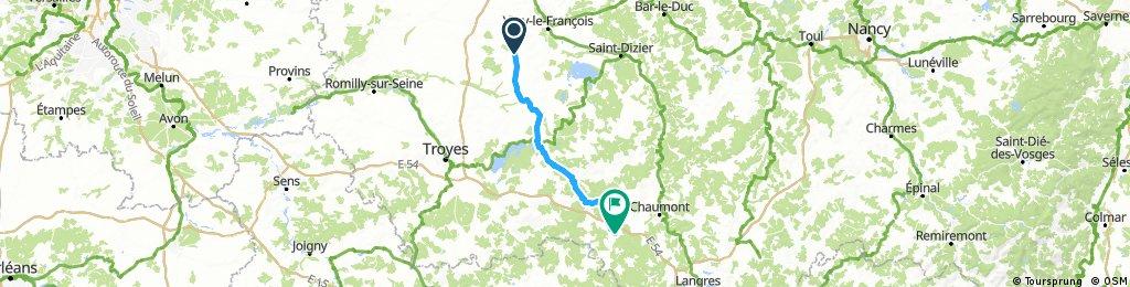 CVF08 - Le Meix-Chateauvillan - Via Francigena bike route