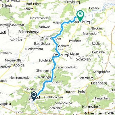 Saaleradweg Jena-Namburg
