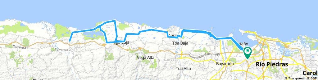 Lengthy ride through Guaynabo