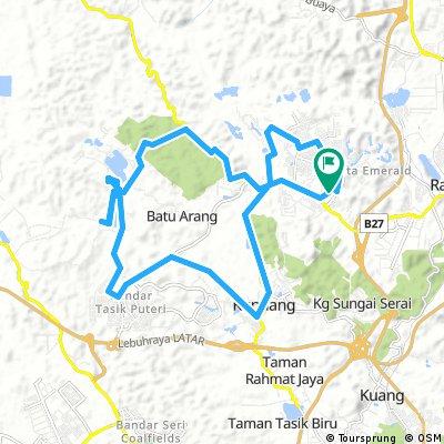Lengthy bike tour through Rawang