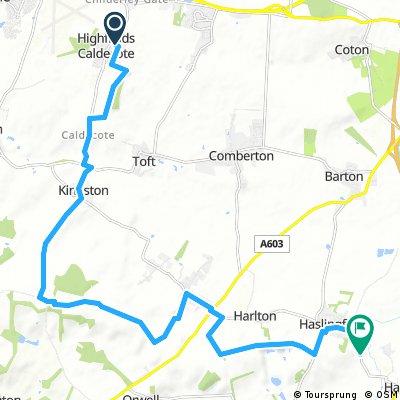 Caldecote to Haslingfield