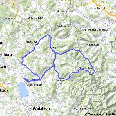 Pfäffikon-Sternenberg-Bauma-Wildberg-Hittnau-Pfäffikon