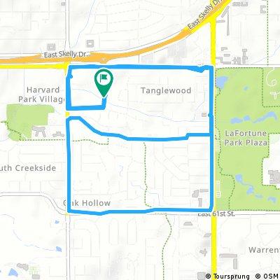 bike tour through Tulsa