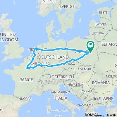 Rowerem po Europie 2016 - Piotr Urbański