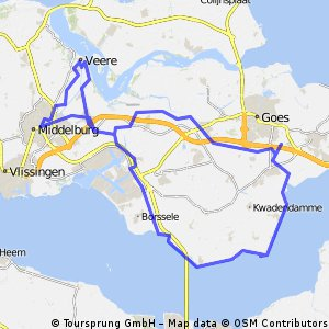 Cycling routes and bike maps in and around Middelburg Bikemap
