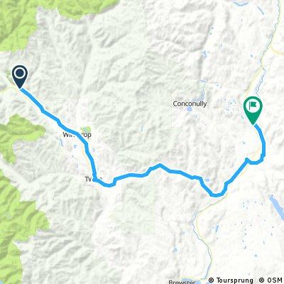 Long ride from Mazama to Riverside