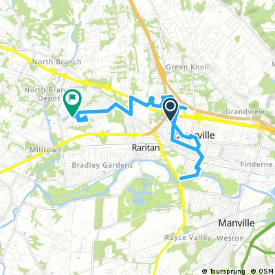 ride from Somerville to Bridgewater Township