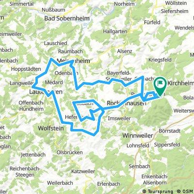 Bastenhaus - Meisenheim - Lauterecken - Hefersweiler - Rockenhausen - Bastenhaus