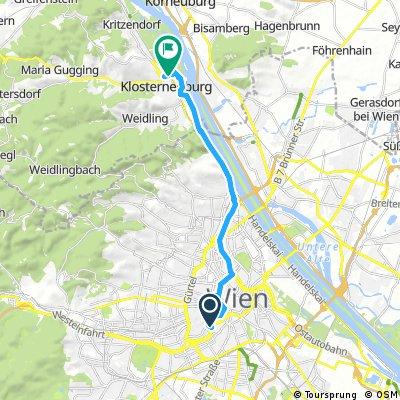 Radrunde von Wien nach Klosterneuburg