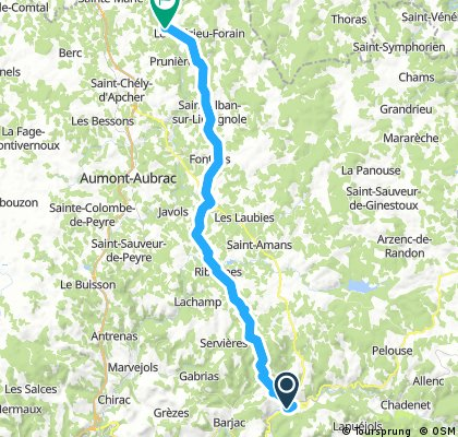 2016 Ride Day 137 - Mende to Le Malzieu-Ville