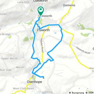 bike tour through Keighley
