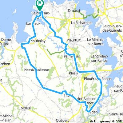 Autour de St-Briac, 53 km