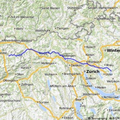 Pfäffikon-Zürich-Brugg-Gelterkinden