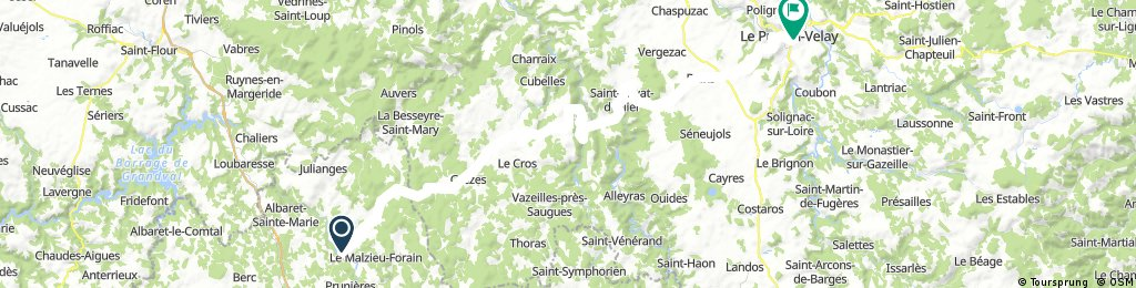 2016 Ride Day 138 - Le Malzieu-Ville to Le-Puy-en-Velay