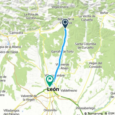 ride from Pastviny to León