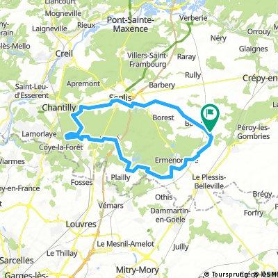 Boucle Versigny - Chantilly - Senlis