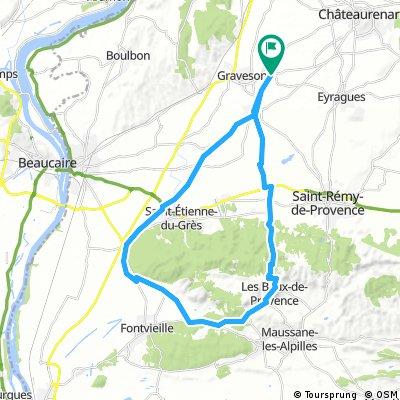 Les Baux de provence 40km