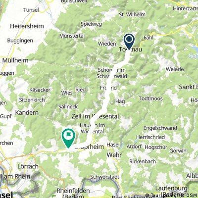 Radrunde von Todtnau nach Maulburg