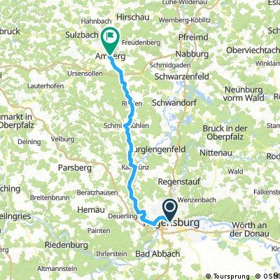 Regensburg - Amberg (Fünf-Flüsse-Radweg)