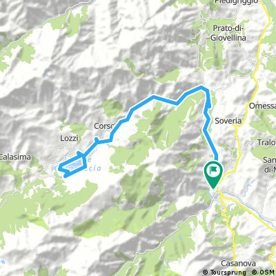 Scala di Santa Regina, jusqu'au lac de Calacuccia, depuis Corte