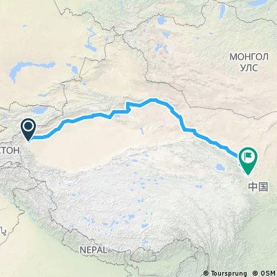 China car Kashgar - Lanzhou