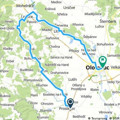 Prostějov - Bouzov - Loštice - Litovel - Olomouc
