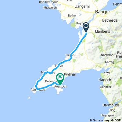 bontnewydd to abersoch (via aberdaron)