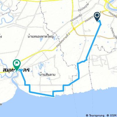 ride through Samut Sakhon