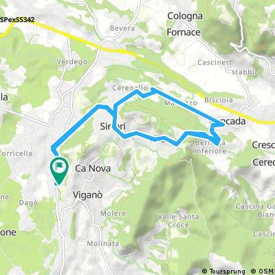 ride through Barzanò