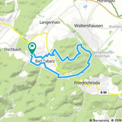 Ausfahrt durch Tabarz/Thüringer Wald