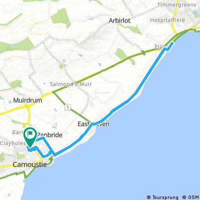 bike tour through Carnoustie