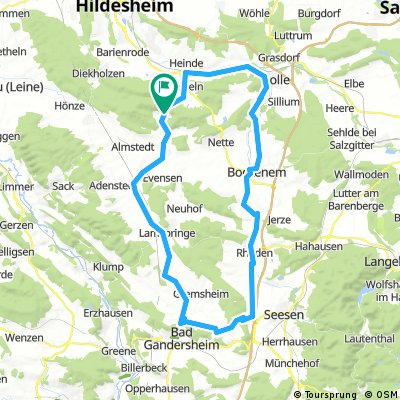 GAN 001: Bad Salzdetfurth - Bad Gandersheim - Bad Salzdetfurth