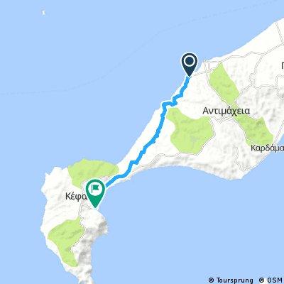 Kos 17km 110 hm naar Kefalos haven (enkel)