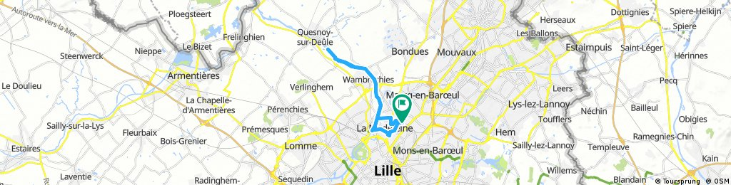 bike tour through Marcq-en-Baroeul