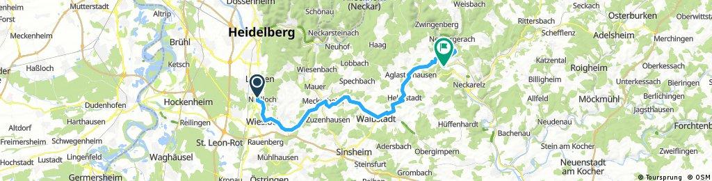 Nußloch - Binau (über Aglasterhausen - Breitenbronn)