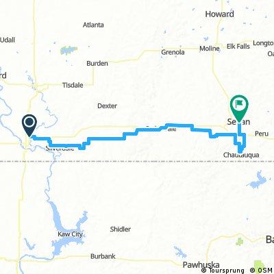 Tour of Kansas Stage 2- Arkansas City-Sedan