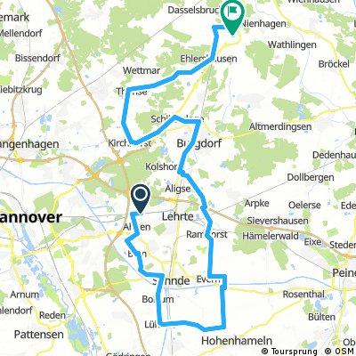 Route BSG Haimar - Dolgen - Kirchhorst - Nh