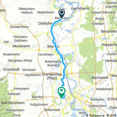 Ludwigshafen a.Rhein - Worms Hamm