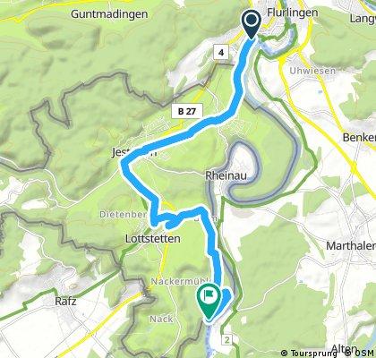 Radrunde von Neuhausen nach Lottstetten
