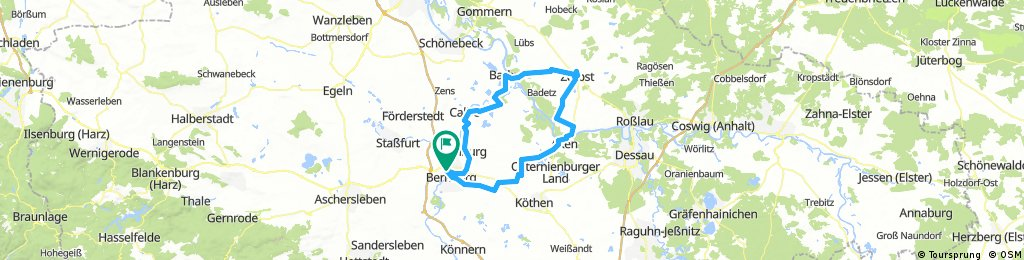 D 351: Bernburg - Zerbst - Bernburg